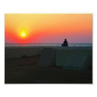 Foto de observación de la subida del sol