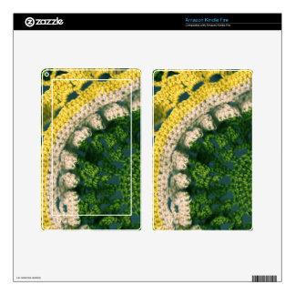 Foto-De Op. Sys. Crocheted Skin Para Kindle Fire