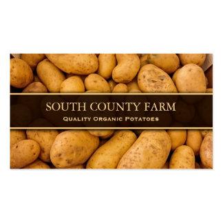 Foto de patatas - granja de la patata - tarjeta de tarjetas de visita