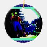 Foto de Paul Bunyan y del buey digital aumentada Adornos De Navidad