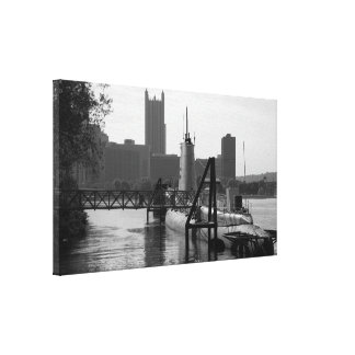 Foto de Pittsburgh - lona de la pared - con el sub Impresión En Lona