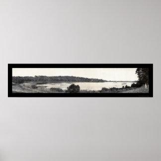 Foto de plata 1905 del lago Cuyahoga Impresiones