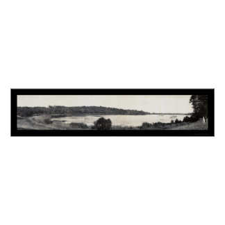 Foto de plata 1905 del lago Cuyahoga Póster