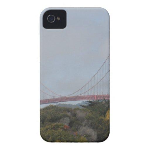Foto de puente Golden Gate en un día soleado iPhone 4 Case-Mate Coberturas