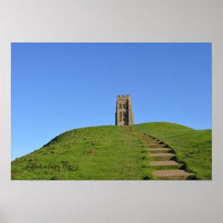 Foto de Somerset Inglaterra del Tor de Glastonbury Póster