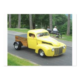 Foto de una camioneta pickup auto clásica del tarjetas de visita grandes