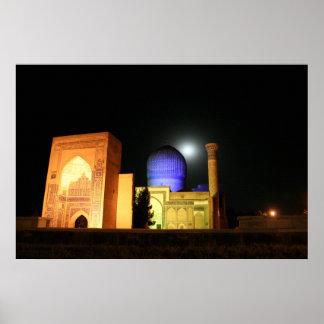 Foto de Uzbekistán de la mezquita de Tamerlán del  Poster