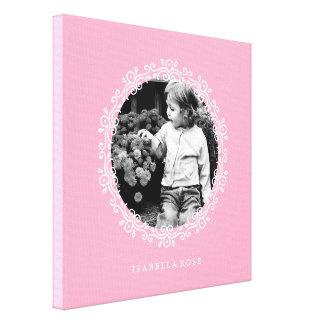 Foto decorativa de lujo rosada del marco lienzo envuelto para galerias