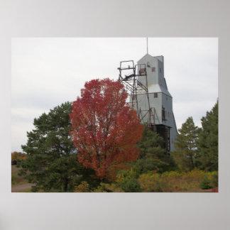 Foto del alzamiento del vapor de la mina de Quincy Poster