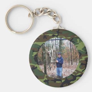Foto del anillo de Camo del verde de cazador perso Llavero Redondo Tipo Pin