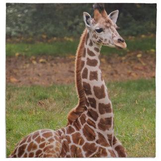 Foto del animal de la fauna de la jirafa servilletas imprimidas