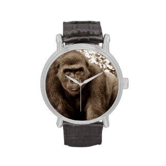 Foto del animal de la fauna del primate del mono d relojes de pulsera