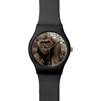 Foto del animal de la fauna del primate del mono d relojes de mano