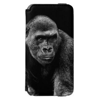 Foto del animal de la fauna del primate del mono funda billetera para iPhone 6 watson