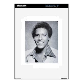 Foto del anuario de Barack Obama iPad 2 Calcomanías