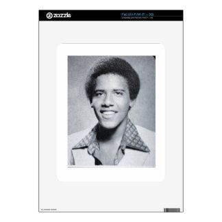 Foto del anuario de Barack Obama iPad Skins