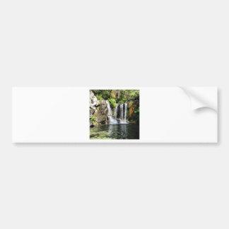 Foto del arte de la cascada de la naturaleza pegatina de parachoque