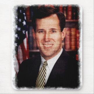 Foto del arte del retrato de Santorum Alfombrillas De Ratón