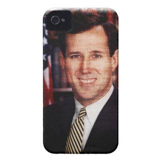 Foto del arte del retrato de Santorum iPhone 4 Carcasas