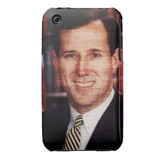 Foto del arte del retrato de Santorum iPhone 3 Case-Mate Cárcasa