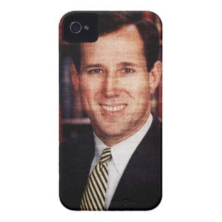 Foto del arte del retrato de Santorum iPhone 4 Case-Mate Cobertura