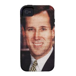 Foto del arte del retrato de Santorum iPhone 4 Funda