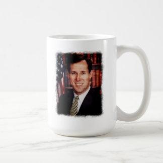 Foto del arte del retrato de Santorum Taza Clásica