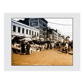 Foto del arte del vintage: 1940 mercados postales