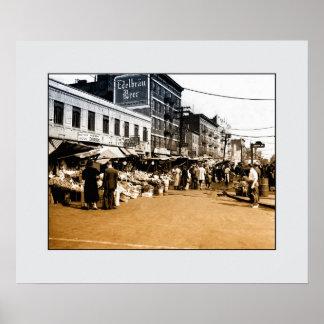 Foto del arte del vintage: 1940 mercados póster