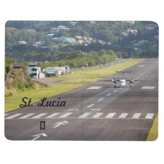 Foto del avión y de la pista de aterrizaje de St L Cuadernos Grapados