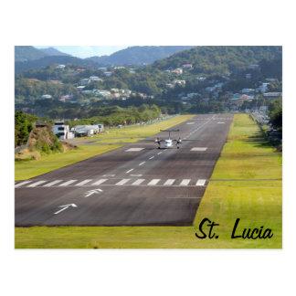 Foto del avión y de la pista de aterrizaje de St L Postales