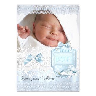 Foto del bebé de la invitación del nacimiento la