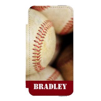 Foto del béisbol funda billetera para iPhone 5 watson
