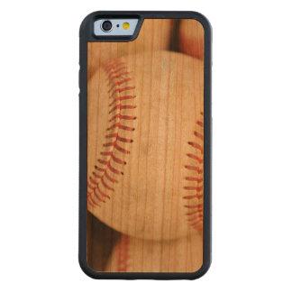 Foto del béisbol funda de iPhone 6 bumper cerezo