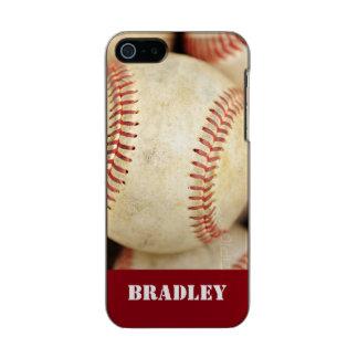 Foto del béisbol funda para iPhone 5 incipio feather shine
