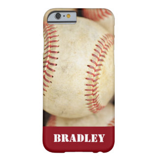 Foto del béisbol funda para iPhone 6 barely there