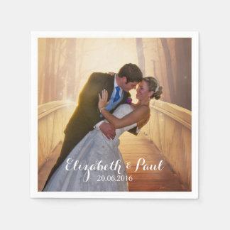 Foto del boda personalizada servilleta de papel