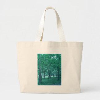 Foto del bosque bolsa tela grande