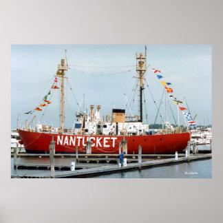 Foto del buque faro de Nantucket Posters