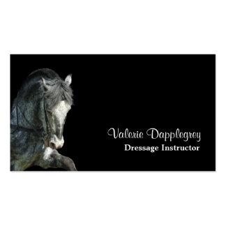 Foto del caballo del Dressage Tarjetas De Visita