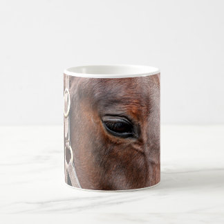 Foto del caballo taza básica blanca