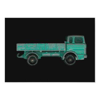 """Foto del camión del juguete del vintage del invitación 5"""" x 7"""""""