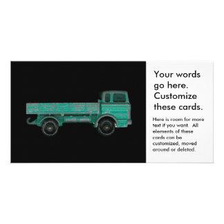 Foto del camión del juguete del vintage del tarjetas fotográficas personalizadas