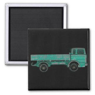 Foto del camión del juguete del vintage del transp imán cuadrado