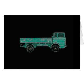 Foto del camión del juguete del vintage del transp tarjeta de felicitación