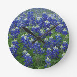 Foto del campo de los Bluebonnets de Tejas Reloj