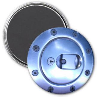 Foto del casquillo del combustible de la plata del imán redondo 7 cm