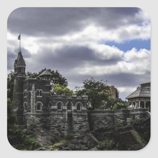 Foto del castillo del belvedere, el Central Park d Pegatinas Cuadradases