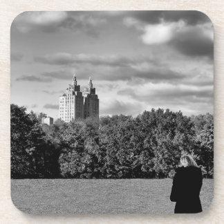 Foto del Central Park en blanco y negro Posavasos De Bebidas