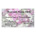 Foto del centro de flores púrpura y blanca tarjetas de visita